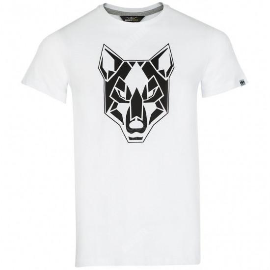 Anafarta Kurt Basklı Beyaz Tişört