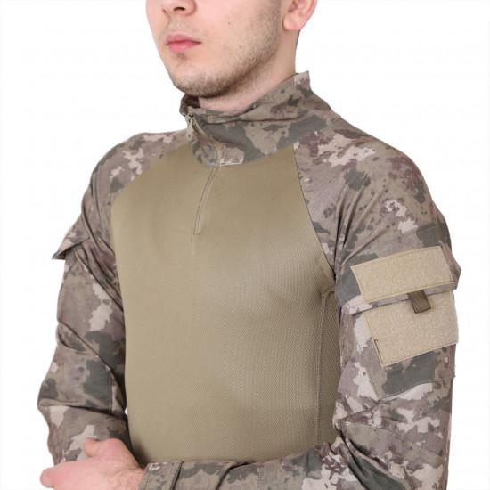 Taktik Operasyon Tişörtü ( Combat ) Yeni Kamuflaj